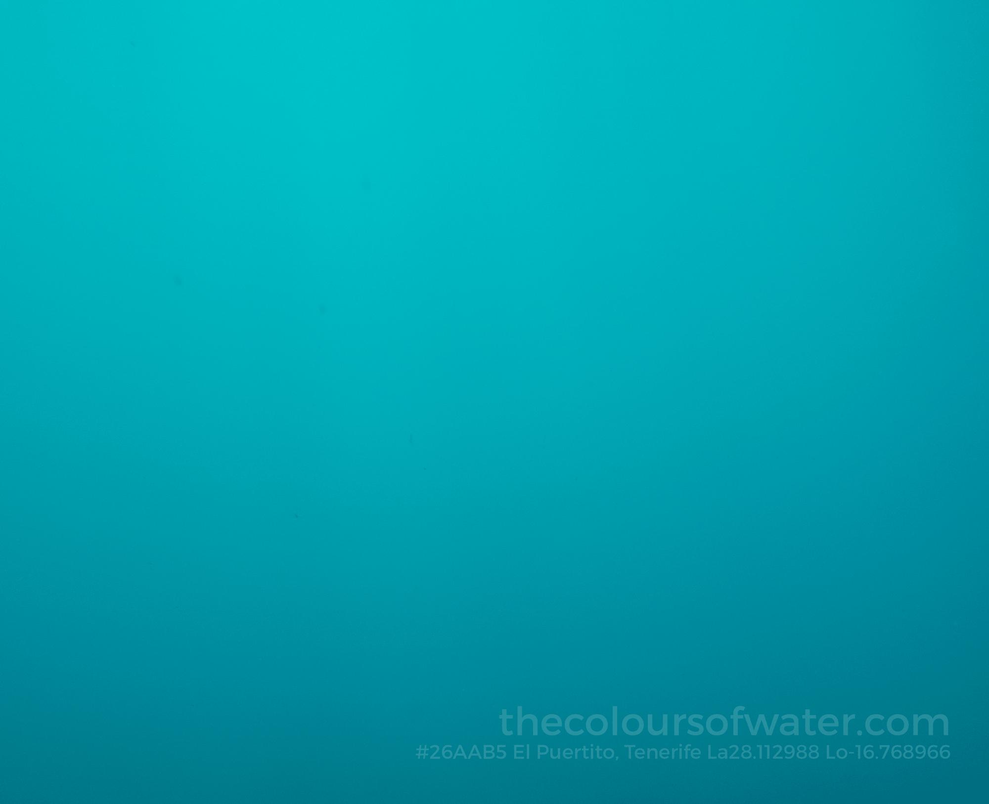 El Puertito Bay, Playa de las Americas, Northern Atlantic, Tenerife #26aab5 Colour of Water