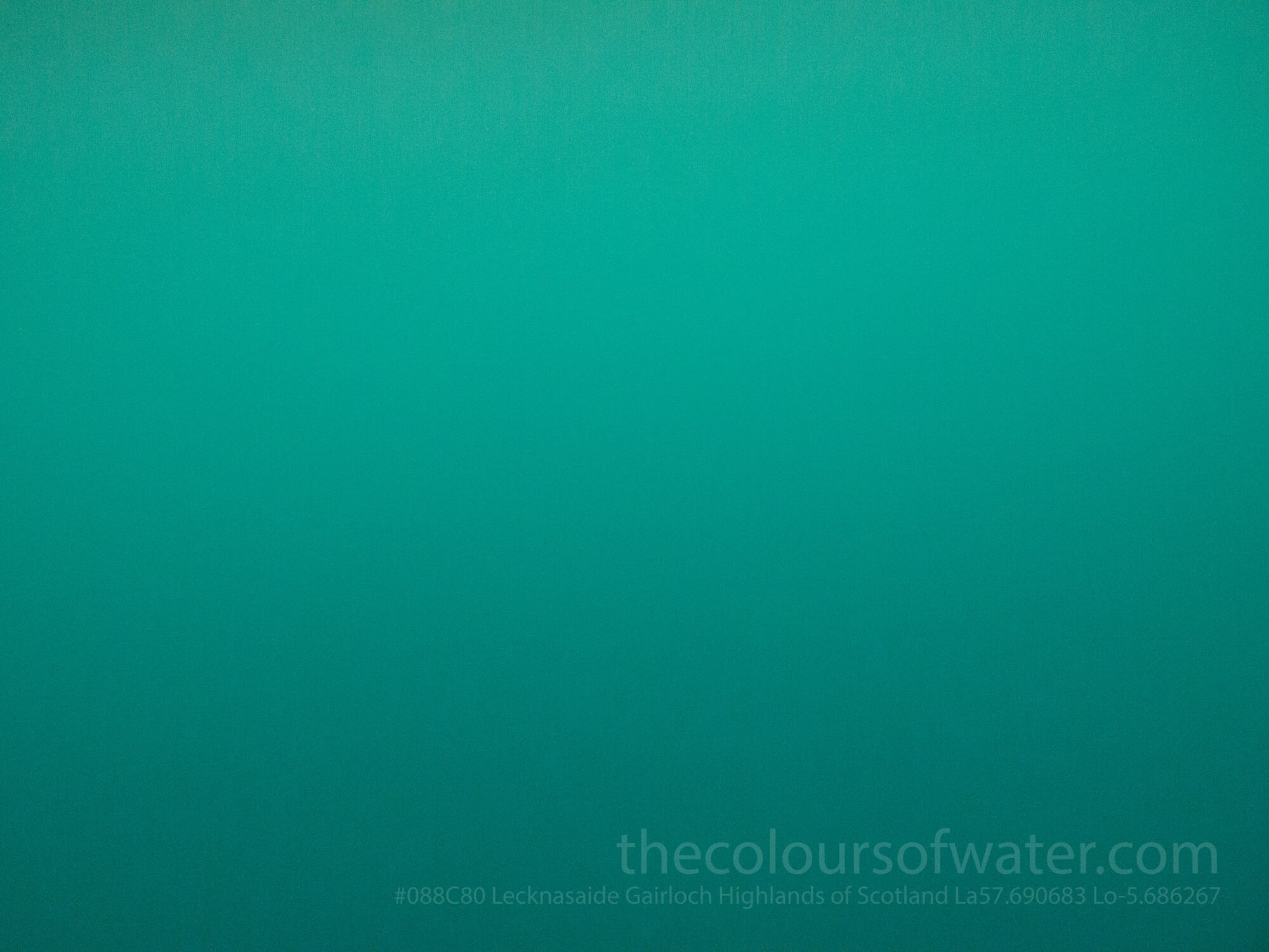 Lecknasaide Gairloch, Wester Ross, Highlands of Scotland Colour of Water #088C80